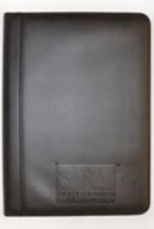 Simulated Black Leather Desk Folder w/ SHRM Logo