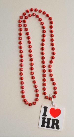 I Love HR Mardis Gras Beads
