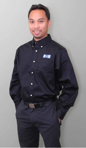 Men's Long Sleeve Outerbanks Black Shirt with SHRM Logo