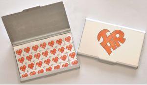 Heart-Shaped I Love HR Business Card Holder/Mint Case