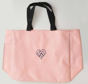 """Tote Bag with Heart-Shaped """"I Love HR"""" Logo"""