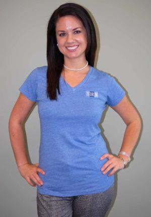 Women's Heathered Blue SHRM Logo shirt