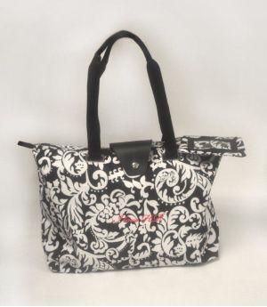 Hampton Damask Bag with I Love HR