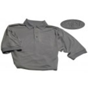 Men's Slate Blue Knit Polo w/ SHRM logo