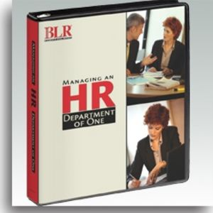 Managing an HR Department of One