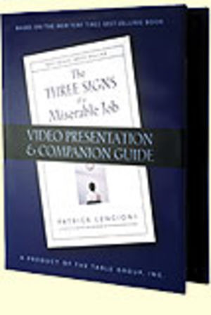 Three Signs of a Miserable Job (DVD)