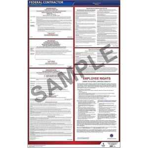 Federal Contractor Poster with 1 Year Update Service