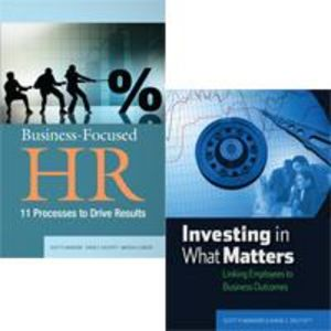 HR Analytics Kit: Business-Focused HR  and Investing in What Matters Book Combo