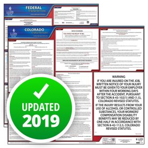 Colorado and Federal Labor Law Poster Set with 1-Year Update Service -- Spanish Version