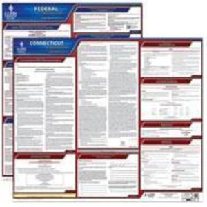 Connecticut and Federal Labor Law Poster Set with 1-Year Update Service -- English Version