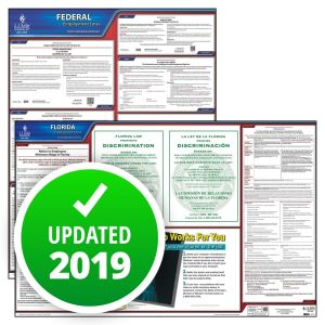 Florida and Federal Labor Law Poster Set with 1-Year Update Service -- English Version