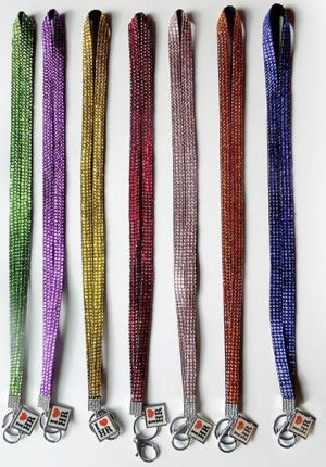 Beaded Bling Lanyard with I Love HR