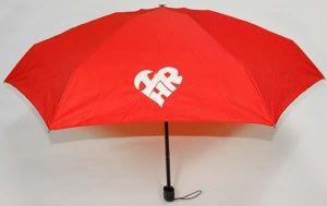 Red I Love HR London Fog Umbrella