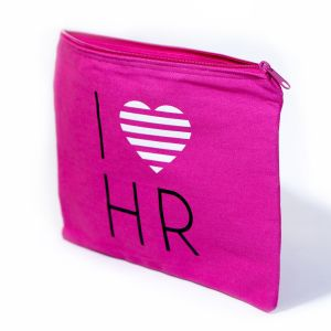 I Love HR Fashion Cosmetic Bag in Pink