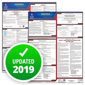 Indiana and Federal Labor Law Poster Set with 1-Year Update Service -- Spanish Version