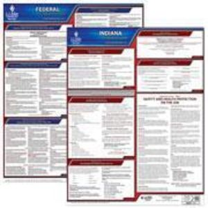 Indiana and Federal Labor Law Poster Set with 1-Year Update Service -- English Version