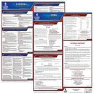 Iowa and Federal Labor Law Poster Set with 1-Year Update Service -- English Version