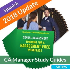 Sexual Harassment: Training for a Harassment-Free Workplace, Study Guide -- California Manager (Spanish)