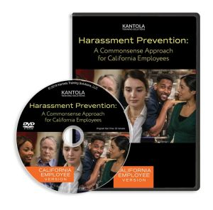 Harassment Prevention: A Commonsense Approach DVD (California employee version)