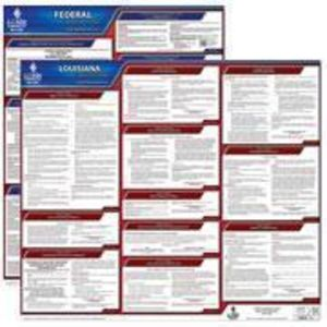 Louisiana and Federal Labor Law Poster Set with 1-Year Update Service -- Spanish Version