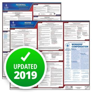 Maine and Federal Labor Law Poster Set with 1-Year Update Service -- English Version