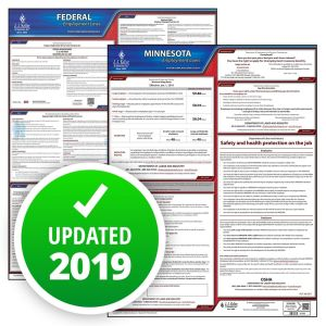 Minnesota and Federal Labor Law Poster Set with 1-Year Update Service -- English Version