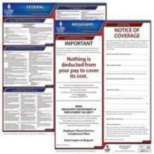 Mississippi and Federal Labor Law Poster Set with 1-Year Update Service -- English Version