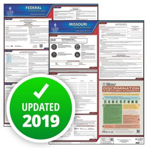 Missouri and Federal Labor Law Poster Set with 1-Year Update Service -- English Version