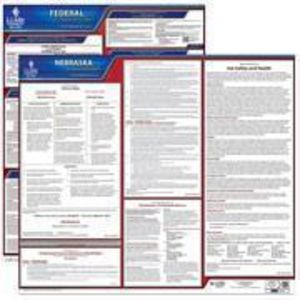 Nebraska and Federal Labor Law Poster Set with 1-Year Update Service -- English Version