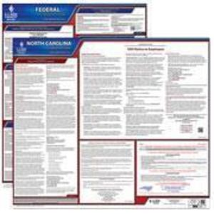 North Carolina and Federal Labor Law Poster Set with 1-Year Update Service -- English Version
