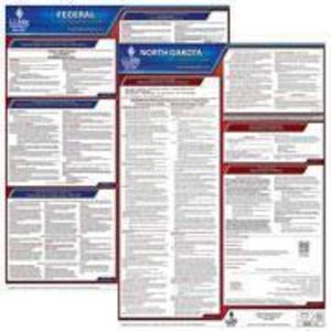 North Dakota and Federal Labor Law Poster Set with 1-Year Update Service -- English Version