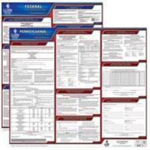 Pennsylvania and Federal Labor Law Poster Set with 1-Year Update Service -- English Version
