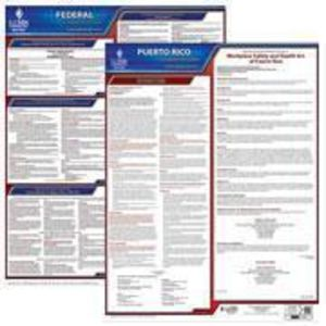 Puerto Rico and Federal Labor Law Poster Set with 1-Year Update Service -- English Version
