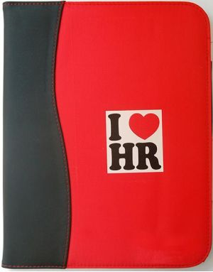 Red & Black I Love HR Portfolio