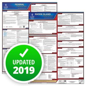 Rhode Island and Federal Labor Law Poster Set with 1-Year Update Service -- English Version