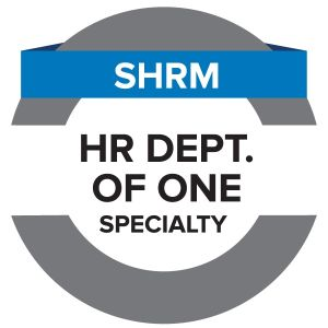 SHRM HR Department of One Specialty Credential