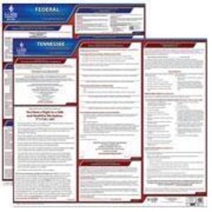 Tennessee and Federal Labor Law Poster Set with 1-Year Update Service -- English Version
