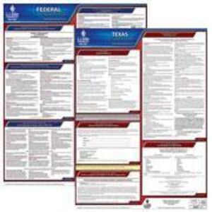 Texas and and Federal Labor Law Poster Set with 1-Year Update Service -- Spanish Version