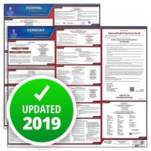 Vermont and Federal Labor Law Poster Set with 1-Year Update Service -- Spanish Version