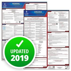 Virginia and Federal Labor Law Poster Set with 1-Year Update Service -- Spanish Version