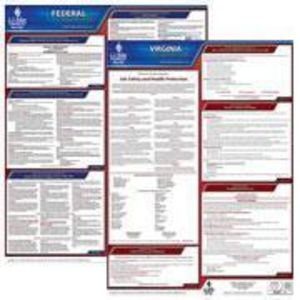 Virginia and Federal Labor Law Poster Set with 1-Year Update Service -- English Version