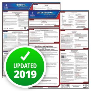 Washington and Federal Labor Law Poster Set with 1-Year Update Service -- Spanish Version