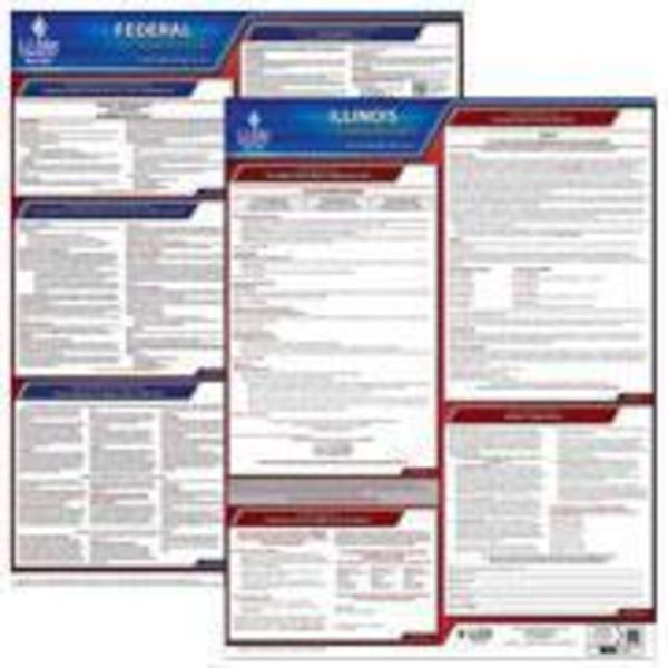 Illinois And Federal Labor Law Poster Set With 1 Year Update Service