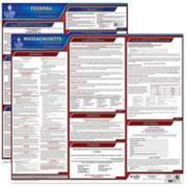 Massachusetts And Federal Labor Law Poster Set With 1-Year